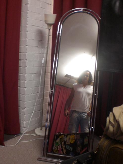 Kev in reflective mood backstage in Berlin....