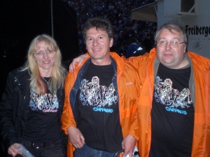 Toni, Franz & Rainer brave the elements, sporting the new CHRISTIE T shirts by Miki