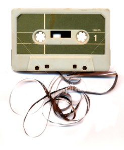 The cassette I unearthed was dustier than this one, but at least mine had all the tape INSIDE!