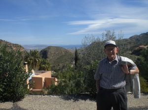 Dad in the mountain village of Cabrera