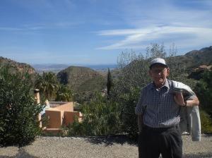 Dad in the mountain village of Cabrera