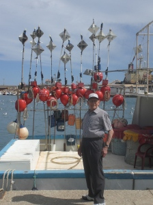 Dad on the quayside in Garrucha
