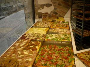 The answer to pretty much everything in Italy is likely to be Pizza...