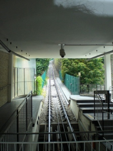 The Funicular: Although the track was steep, the fare wasn't...