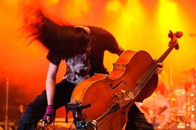 Perttu Kivilaakso of Apocalyptica  @ Ilosaarirock 2009 - from Wikipedia