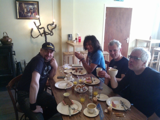Pre-gig Breakfast with The Boys